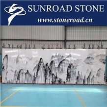White Marble for Project, Building Marble, Ink Marble for Building