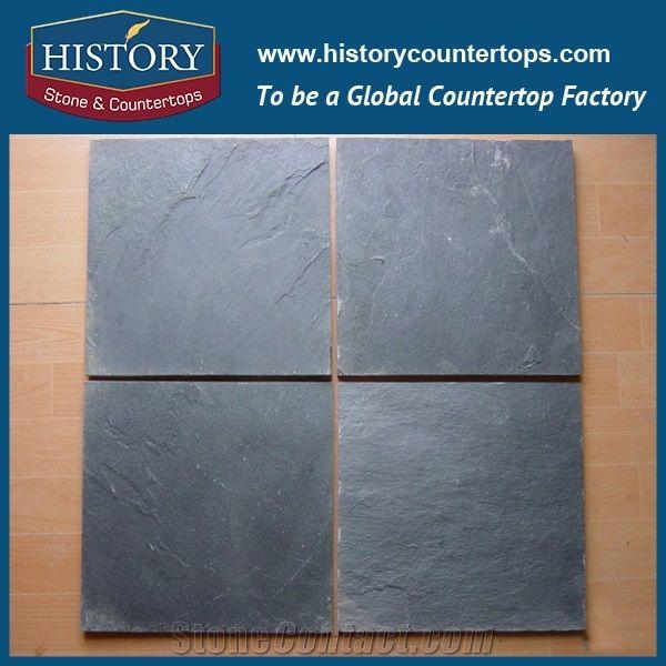 Historystone Black Slate Slabs Cut To
