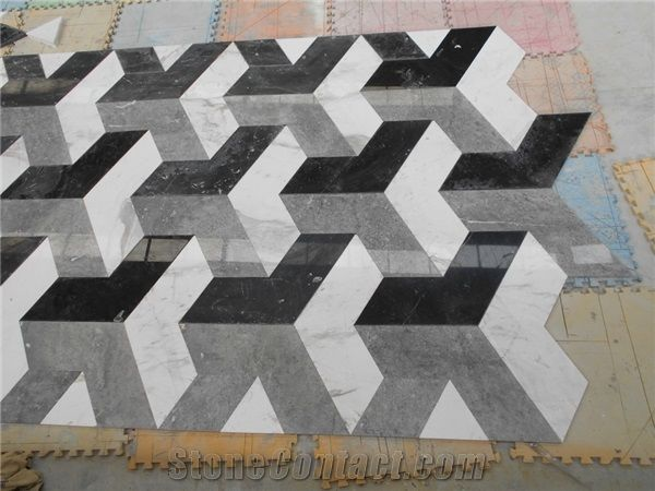 China Wholesale Floor Design Marble Pattern 3d Medallions Tile In