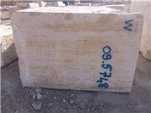 Beige Vein Cut Travertine Block W Selection