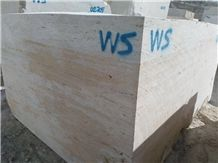 Vein Cut Travertine Block W Select
