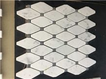 Polished Mosaics Mixed with Multicolor Marble,Type No. Bc-Mc1207,Can Be Made Of White and Black Marble,White and Grey Marble, Accept Customized Colors