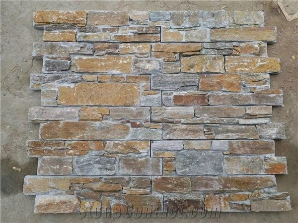 china rust slate rustic stone wall cladding tile inner and exterior