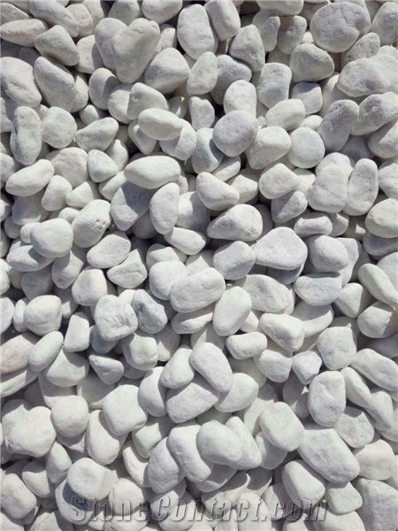 Snow White Pebble Stone for Landscaping and Decoration, Snow White Stone  Pebbles, Pure White Natural Crushed River Stone, White Stone Gravel in  Garden - Snow White Pebble Stone For Landscaping And Decoration, Snow White