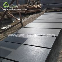 China Hainan Black Basalt Brushed Leathered Antique Finish Wall Cladding Floor Covering