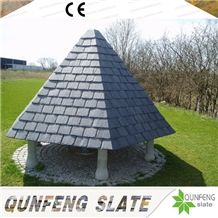 China Square Shape Black Roof Slate Tiles for Cladding and Roofing