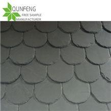 Waterproof Black Slate Roofing Tiles,Jiujiang Fish Scale Slate Roof,Slate Tiles Stone,