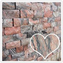 China Juparana Red Granite Rustic Floor Tiles Wall Cladding Tiles Wall Facade Tiles