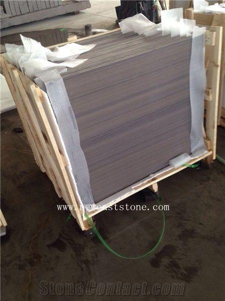 Brushed Teak Wood Sandstone Purple Wooden Grain Sandstone