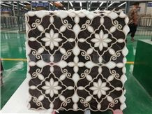 St. Laurent Brown Marble,China Laurent Brown Marble,Chinese Golden Brown Marble Cheap Tile Floor Waterjet Medallions