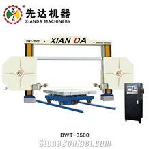 Cnc Plc Diamond Wire Cutting Saw Granite Marble Limestone Sandstone Trimming Squaring Profiling Machine China Xianda Bwt-3500