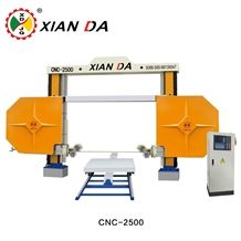 Cnc Plc Diamond Wire Cutting Saw Machine for Granite Marble Onyx Limestone Sandstone Profiling Squaring Special Shapes Xianda Cnc-2000/2500/3000