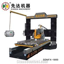 Stone Lathe Machine Plc Cnc Granite Marble Profiling for Skirting Linear Balustrade Gantry-Lifting China Xianda Sdnfx-1800