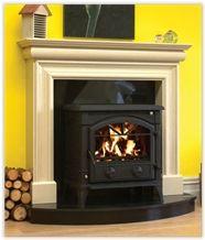 Rosal Beige Limestone Fireplace
