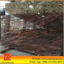 California Kenaf Red Granite Slabs,Flooring Covering,High Quality Wall Cladding Panel Polished Material Decoration