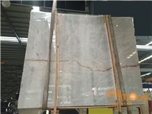China Ice Age Grey Marble Slabs Tiles/ Chinese River Red Line/ Wall Floor Covering / Own Factory Quarry/ High Quality