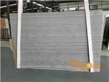 China Mandela Wooden Marble Slabs Tiles; Grey Wood Grain Quarry; Grey Marble New Polished; Wall Floor Covering