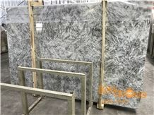 China Polished Alps Snow Grey Marble Slabs Tiles/ Natural White & Grey/ Wall Floor Covering Countertops Vanity Interior Projects/ Own Factory Quarry