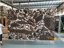 Chinese Brown Polished Marble Tiles & Slabs/China Kylin Black White Wall Floor Covering/Cheap Price Stable Quantity for Project/Cream Chocolate