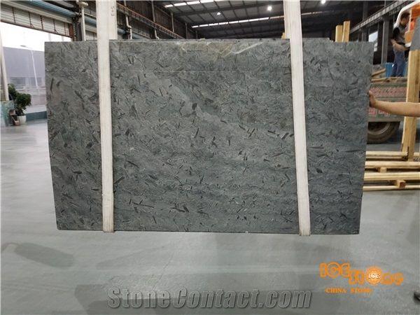 Chinese Swan Black Granite Slabs Tiles