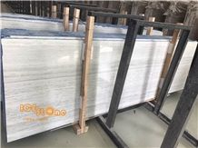 Platinum Wood/Birkin Blue Wood Marble Slabs and Tiles/Light Blue Color/Can Do 1cm Tile/Big Quantity/Stable/Floor Cover/Wall Covering/Hotel Design