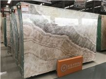 White Wood Onyx Slab in Different Bookmatch, Beige Onyx Exclusive Price, Wall & Floor Covering, Best Seller on Fairs