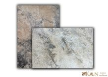 Silver Travertine Tumbled French Pattern