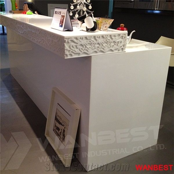 Modern Artificial Marble Solid Surface White Office Spa