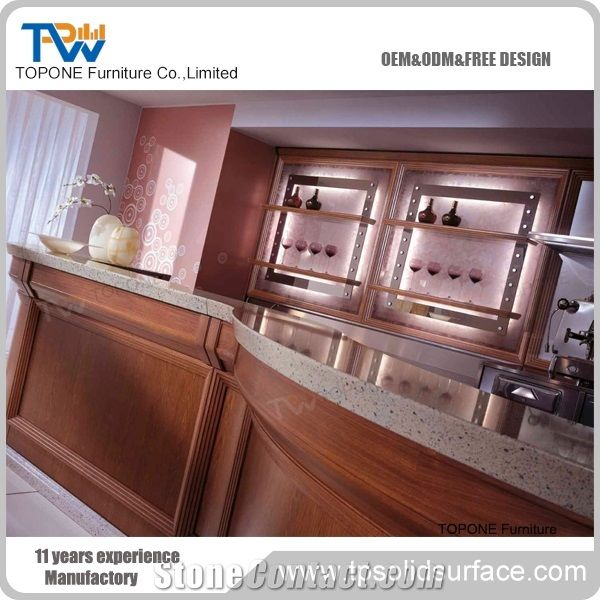Artificial Marble Stone Curved Design Bar Counter Tops, Interior Stone  Solid Surface Cafe For Restaurant Bar Counter Furniture Professional Price  Oem