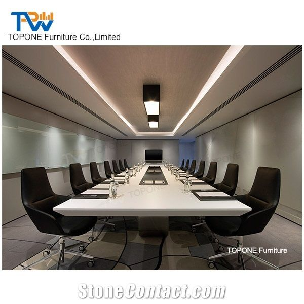 Luxury High Quality Artificial Marble Stone Office Table Tops - Conference room table tops