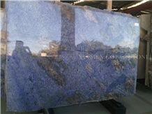Azul Bahia Brazil Blue Granite Slabs for Countertop Design,Panel Tiles for Bathroom Walling,Floor Covering Gofar