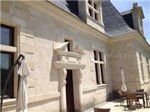 Crema Luna Limestone Beige Seashell Coral Stone Tiles Tumbled Building Exterior Wall Cladding,Walling Pattern Gofar