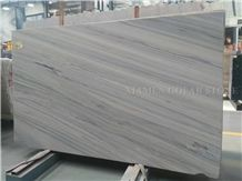 Platinum White Wooden Vein Marble Slabs Machine Cutting Panel Tiles for Bathroom Walling,Flooring Tiles Pattern