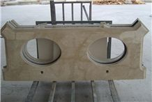 Beige Marble Vanity Top,Bathroom Countertop,Customized with Ce Certificate,Direct Factory Cheap Price Top Quality