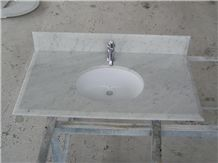 Bianco Carrara White Marble Vanity Top,Bathroom Countertop,Customized,Direct Factory with Ce Certificate,Cheap Price and Top Quality