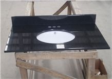 Black Granite Bathroom Top,Countertop,Vanity Top with Basin,Direct Factory with Ce Certificate,Cheap Price Good Quality Vanity Top Customized