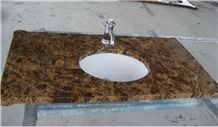 Spain Dark Emperdor Vanity Top Hotel and House Project Bathroom Vanities,Countertop,Customized Top,Direct Factory with Ce Certificate,Cheap Price