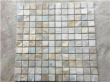 Beige and Grey Stone Mosaic Tile Mosaic Pattern Mosaic Tile Backsplash Wall Mosaic