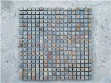Beige Rusty Yellow Grey Slate Stone Mosaic Floor and Wall Tiles Wall Mosaic Pattern