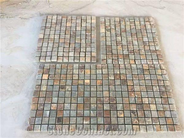 Beige Grey Slate Limestone Floor