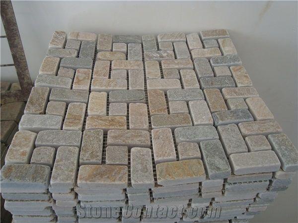Slate Limestone Mosaic Tile Sheet Stone