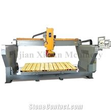Xinan Monoblock Integral Bridge Saw with Head Rotate and Miter Cutting, Easy Installation and Transplantation Granit Marble Cutting Machine for Stone.