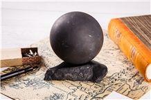Ball Sphere 15-30 Matt Shungite Natural Stone