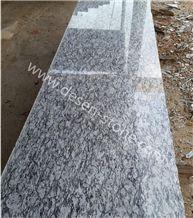 G377 Spary White Granite Tiles&Slabs, Spray White Granite Half Slabs, Seawave Flower/Wave White/Seawave Grey/ Hailang Hua/Sea Wave Flower Granite Tile