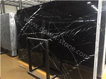 Nero Marquina Marble Slabs&Tiles, Black Marquina Marble, China Black Marble, Nero Marquina Venato/Nero Oriental Black/Nero Marquine Marble