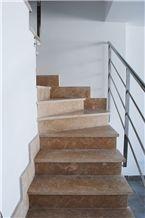 Rosa Levante Limestone Staircase