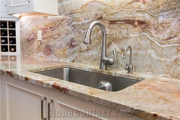 Brazil Exotic Nacarado Quartzite Kitchen Countertop From