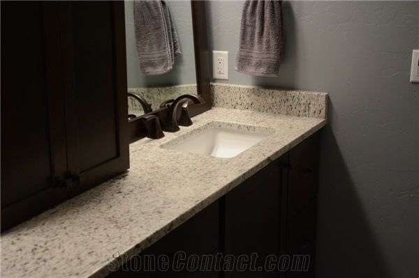 Dallas White Granite Bathroom Countertop From United