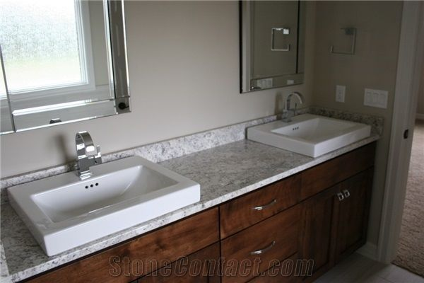 Master Bathroom Top With Salinas White Granite From United