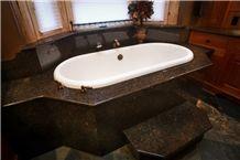Castor Imperial Granite Bath Tub Deck and Surround